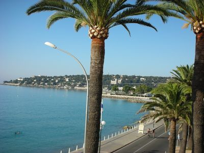 View from balcony towards French side, Monte Carlo