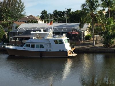 Our boat parked at the dock