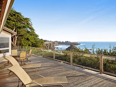 Photo for Oceanfront home with private hot tub, views, and close beach access