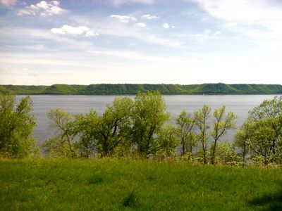 Photo for Stunning view of Lake Pepin! 1/2 mile to Villa Bellezza