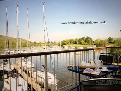 Photo for Walkers - Luxury Boat House On The Shore Of Lake Windermere Near to Bowness