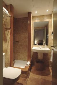 Toilette with shower