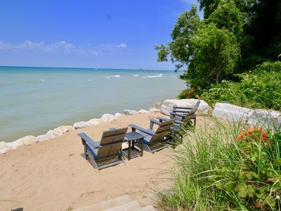 Photo for Now Booking for 2020! Private Lake Access, Hot Tub, Fire Pit & Endless Lake Michigan Views