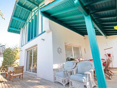 Photo for House w/ pool, ARCANGUES - 12 pers., quiet garden w/ view on the BASQUE COUNTRY