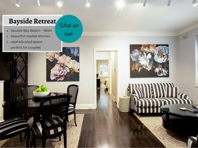 Photo for BAYSIDE RETREAT - 2 Bedroom Apartment in Fashionable Double Bay