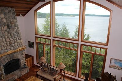 View of Lake from 2-story windows of Great Room