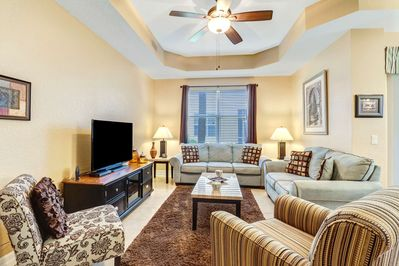 Enjoy the large, oversized TV with cable package in the living room. Free unlimited WiFi is available throughout the condo.