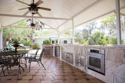 Enjoy the complete outdoor kitchen!