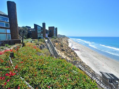 Photo for Solana Beach Condo- Private Community Stairs to the Beach!