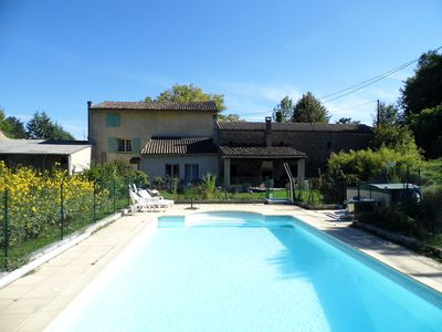 Photo for Old farm, south France. pool. Lake, beach, kayak, resto, Cathar castle,