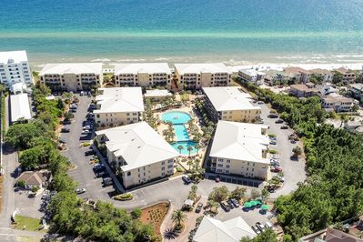 The Adagio Property sits right on the beautiful Emerald Coast beach