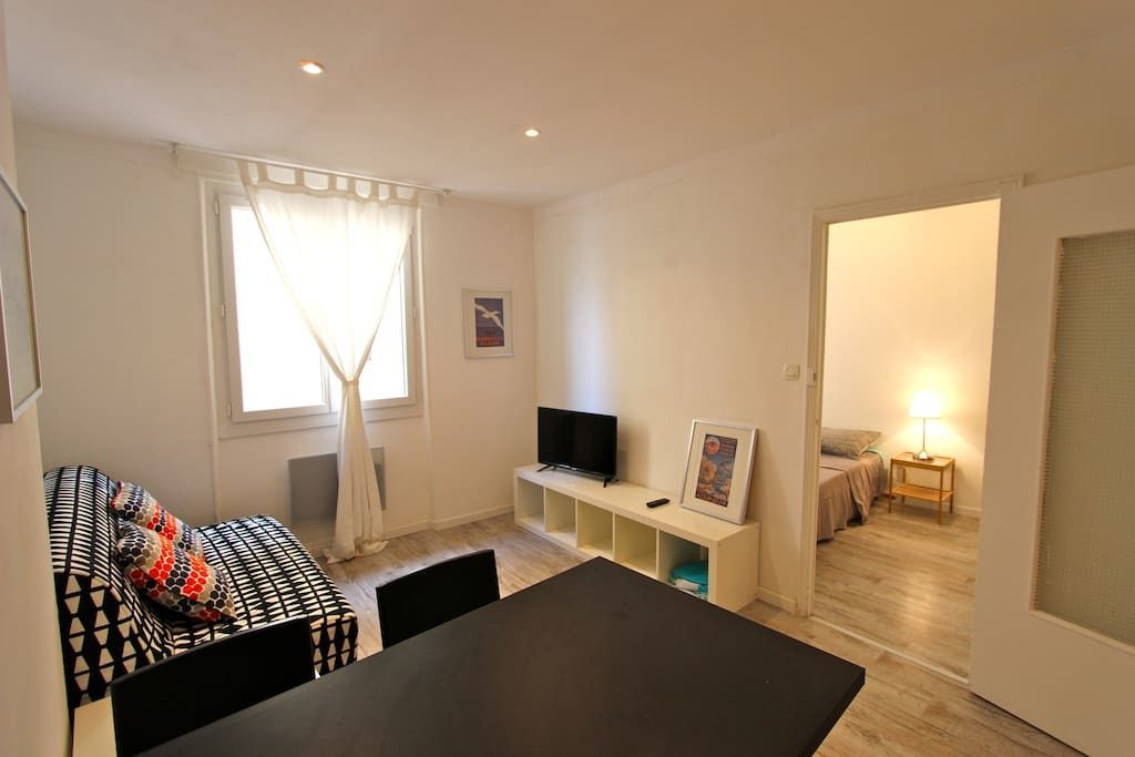 Noailles Apartment Rental   Living Room With Sofa Bed For 2