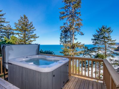 Photo for Dog-friendly home w/private hot tub, views of Proposal Rock and the ocean