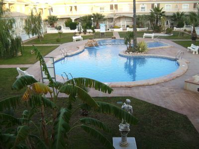 Photo for Large, pool facing air conditioned 3 bed apartment. Car not needed
