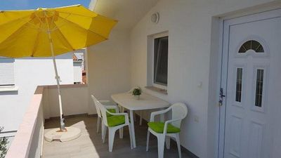 Photo for One bedroom apartment with terrace Nin, Zadar (A-17784-d)