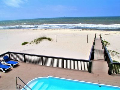 Photo for Stunning 6 BR, 4.5 BA beachfront with POOL!!