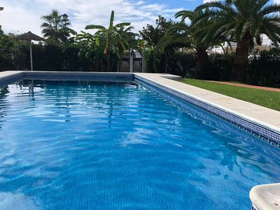 Photo for Wonderful ground floor apartment with pool 3 minutes from Burriana beach