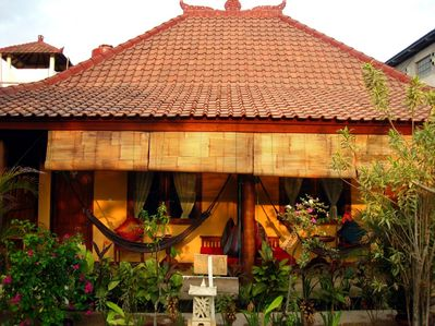 Puri Sayang has two rooms that are side by side and suitable for up to 5 guests