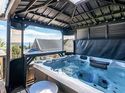 Photo for Waiheke Sea View and Spa - Onetangi Holiday Home