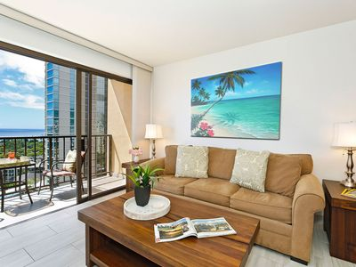 Photo for Secure 1-bedroom with full kitchen, Washlet, parking & ocean/sunset views!