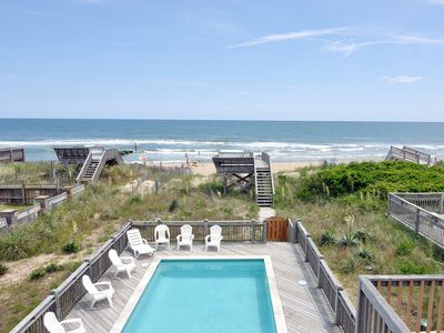 Photo for Dream Catcher: Oceanfront, 8 bedroom with a private pool and hot tub, private walkway to the beach