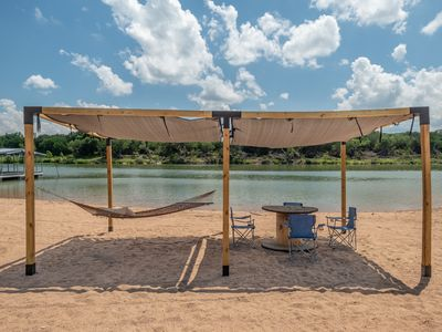Photo for Beach House 2 - Plenty of SPACE for everyone! Best sandy beach on Lake LBJ!