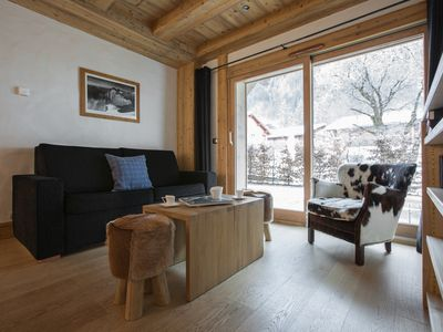 Photo for Smart Alpine Apartment just 2 minutes walk from the Planards nursery slopes