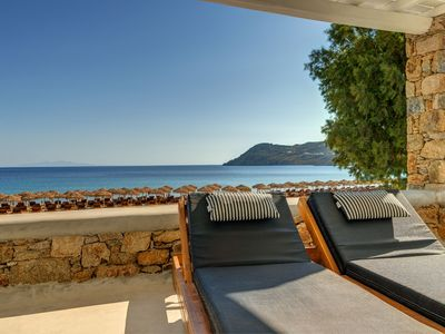 Photo for Mykonos Suite for two on Elia beach, with breakfast included.