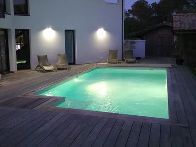 Photo for BEAUTIFUL CONTEMPORARY VILLA, QUIET SPACIOUS AND FAMILY - HEATED SWIMMING POOL 30 °