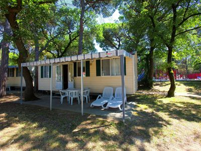 Photo for Detached chalet with nice terrace not so far from the sea