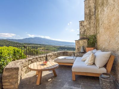 Photo for Maison Ventoux - Holiday house with view on the Mont Ventoux