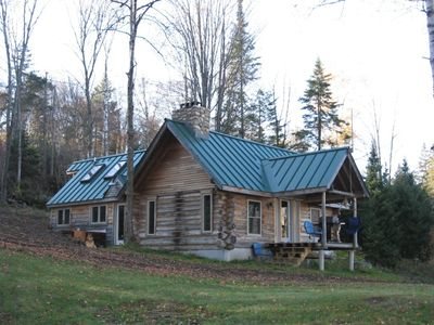 Photo for Rustic Authentic Off-grid Log Cabin 15 Minutes From Kingdom Trails