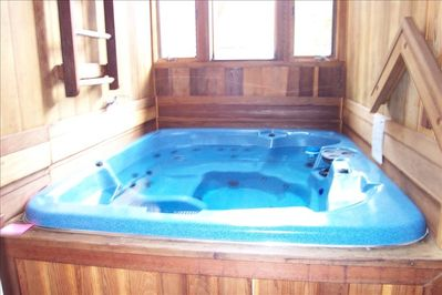 Private Hot Tub INSIDE our Townhome . Serviced 3x a wk. during winter season