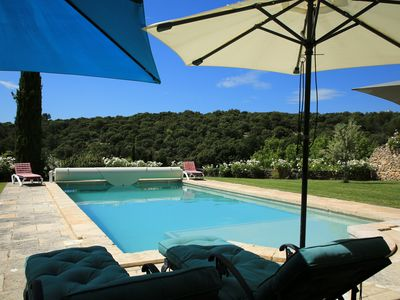 Photo for Mas Letizia restored farmhouse with pool and large grounds in Bonnieux, Luberon.