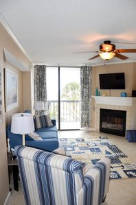Photo for BEAUTIFUL 3 BR 2 BA OCEANFRONT CONDO W/ GRANITE COUNTER TOPS AND TILE FLOORS.