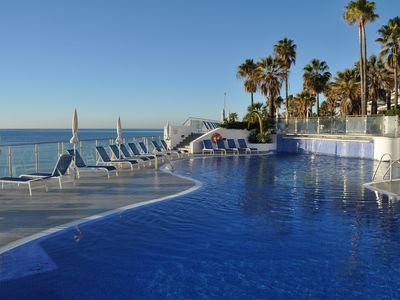 Photo for Directly on the beach with lovely views of the Mediterranean Sea