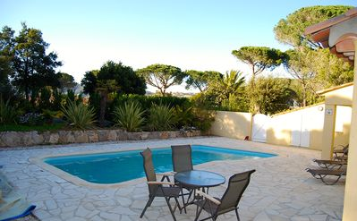 Photo for Ste Maxime Semaphore, sea view, very residential area and swimming pool. 4 bedrooms