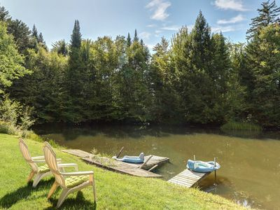Photo for NEW LISTING! Cozy house w/pond for swimming, large yard & private sauna, dogs OK