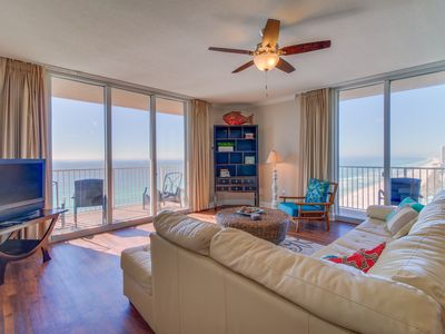 Photo for Gulffront condo w/ balcony view & shared pools, hot tubs, fitness center, sauna