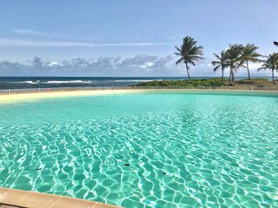 Photo for Magnificent sea view, direct access to the beach, swimming pool, secured residence