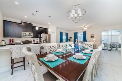gorgeous space/huge dining room table
