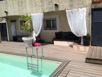 Photo for Apartment any comfort, garden swimming pool, gulf of saint Tropez
