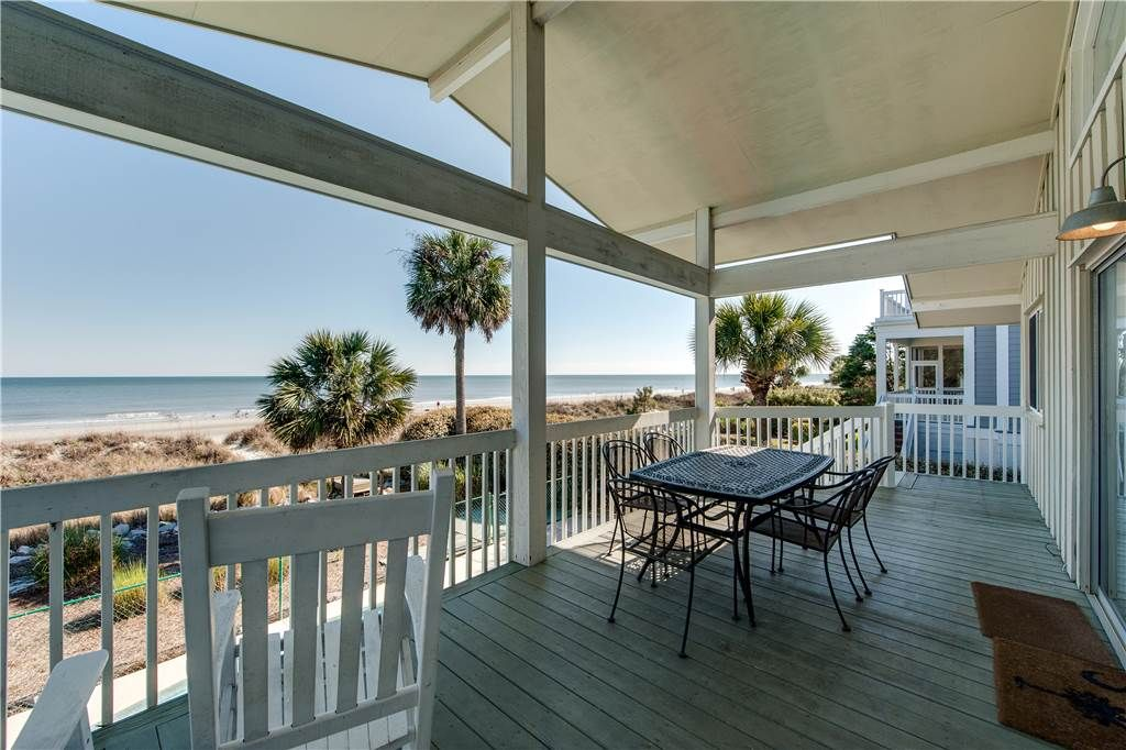 Oceanfront Home With Private Pool And Beach Path Dogs Allowed Forest Beach Hilton Head South