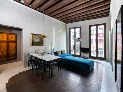 Photo for Refined apartment with Canal View just steps from San Marco