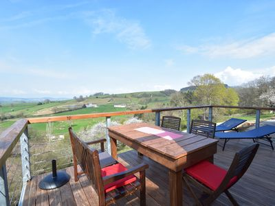 Photo for Modern holiday home with panoramic view and shared (heated) swimming pool