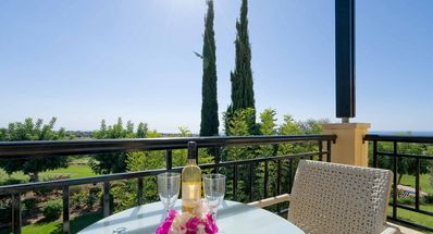 Photo for Beautiful 1 bedroom apartment 'A12' with stunning golf views, communal pool and resort facilities, Aphrodite Hills Resort