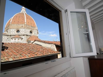 Photo for Apartment overlooking the Duomo, it seems to touch it!