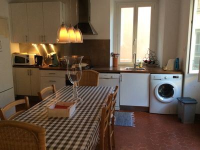 Photo for Charming apartment on the Cours Saleya, vieux Nice. 200 meters from the beach!