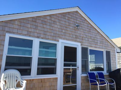 Photo for Beachfront property with panoramic ocean views-private Duxbury Beach