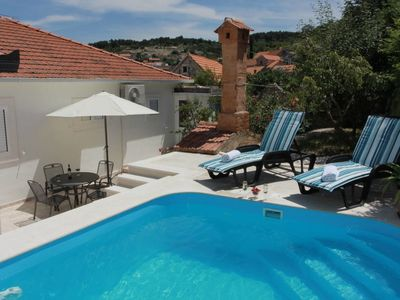 Photo for 3 bedroom Villa, sleeps 8 in Nerežišće with Pool, Air Con and WiFi